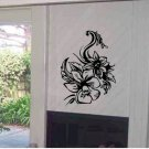 Wall flower  vinyl floral wall decal sticker living room wall decor
