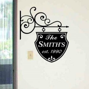 wall decal personalized decorative family sign living room wall decor