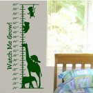 wall sticker decal Kids Growth Chart with monkey giraffe and more