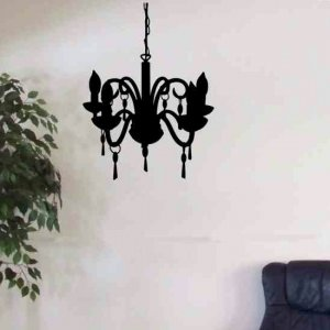 wall decal chandelier great home decor graphic for any room.