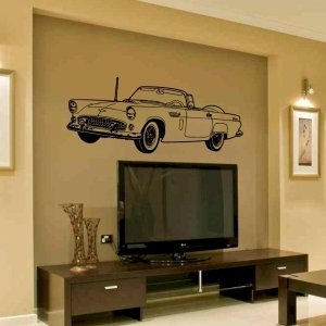 wall decal Classic Thunderbird  living room family room wall decor