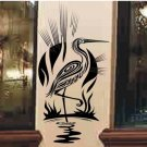 Heron bird wall decal bathroom bedroom living room wall decor