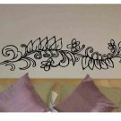 Flowers with leaves wall decal home or office wall decor
