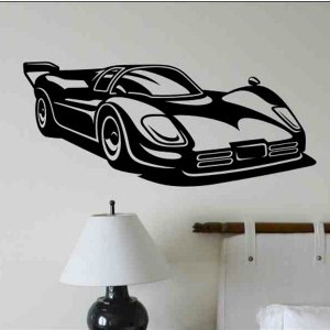 Race Car wall decal kids bedroom wall decor boy or girl