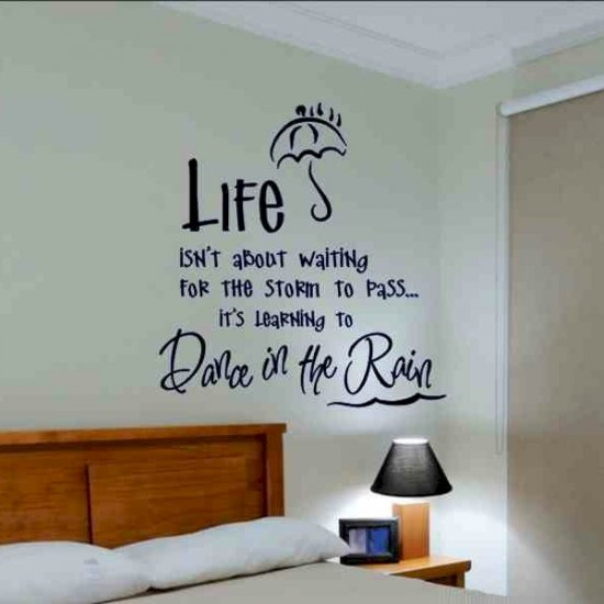 wall quote decal life isnt about motivational kids room
