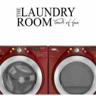 laundry room wall quote sticker decal Laundry Room loads of fun