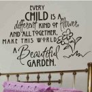 childs bed room wall quote sticker decal every child is