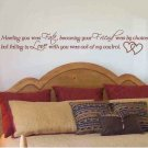 wall sticker decal love quote Meeting you was fate master bedroom wall decor