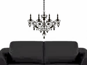 chandelier wall sticker decal bedroom living room wall decor