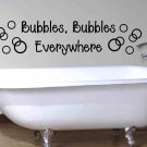 bathroom wall quote sticker decal bubbles bubbles everywhere