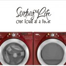 laundry room wall quote sticker decal sorting out life one load at a time