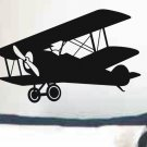 Wall decal airplane biplane kids bedroom or nursery