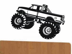 wall sticker decal Monster Truck kids bed room wall decor boy or girl
