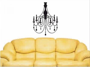 Chandelier Wall Decal bedroom, dining room or kitchen wall decor