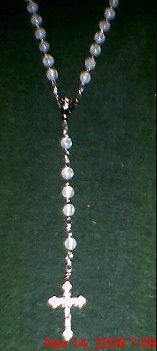 White Luster Rosary