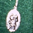 Lg. Bright Pewter St. Christopher