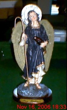 "8"" Resin Statue of St. Rapheal Archangel of Healing"