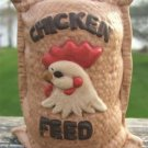 "VINTAGE ""CHICKEN FEED"" BAG BANK 1960's"