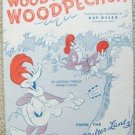 "VINTAGE ""WOODY WOODPECKER"" Sheet Music 1948 - W.LANTZ"