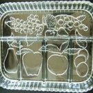 VINTAGE CUT GLASS DIVIDED RELISH TRAY w/ HANDLES  NICE!