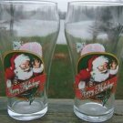 COCA-COLA SANTA CLAUS Bell Soda Glasses ANCHOR HOCKING