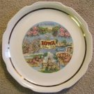 VINTAGE IOWA COLLECTOR'S PLATE 1940's THE HAWKEYE STATE