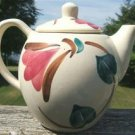 """VINTAGE PURINTON WARE POTTERY """"RED IVY"""" TEAPOT  1940's!"""