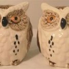OWL Salt & Pepper Shakers w/ Toothpick Holder Set L@@K