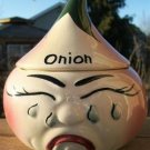 VINTAGE ONION JAR & COVER - CRYING! 1950's L@@K!!