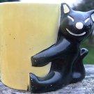 VINTAGE BLACK CAT CANDLEHOLDER - GERMANY R.T. 449 A