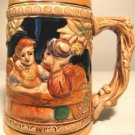 "Hand Painted ""Man & Lady @ Table"" Scene Stein (JAPAN)"