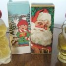 AVON JOLLY SANTA & CHRISTMAS CAROLER Bottles w/ Boxes