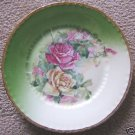 ANTIQUE VICTORIA AUSTRIA PINK & YELLOW ROSE PLATE