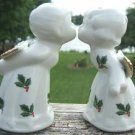 ESSEX KISSING BOY & GIRL ANGEL SALT & PEPPER SHAKER SET