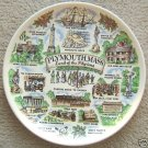 """VINTAGE """"PLYMOUTH, MASS. PILGRIMS"""" COLLECTOR'S PLATE"""