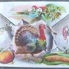 VINTAGE F. BAMBERGER THANKSGIVING GREETINGS POST CARD