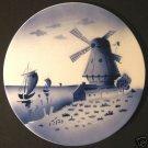 Holland Delft Blue Dutch Windmill Seaside Plate