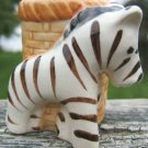VINTAGE OCCUPIED JAPAN ZEBRA MINIATURE PLANTER - 3-D!