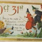 "VINTAGE OCT 31st ""WITCHES"" HALLOWEEN POST CARD  GERMANY"