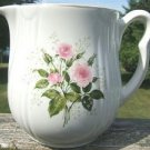 "HALL CHINA HEATHER ROSE ""RAYED"" JUG/PITCHER 1950's"