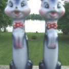 VINTAGE STRETCH SQUIRREL SALT & PEPPER SHAKERS - JAPAN