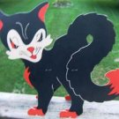 "VINTAGE ""Made In USA"" Black Cat w/ Fold Out Legs 1950's"