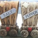 VINTAGE COVERED WAGON SALT & PEPPER SHAKER SET WESTERN!