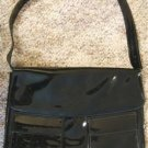 "VINTAGE BLACK PATENT LEATHER PURSE by ""Bobbie Jerome"""