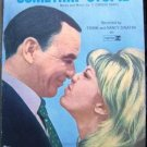 FRANK & NANCY SINATRA Somethin' Stupid SHEET Music 1967