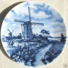 DELFT BLAUW HAND DECORATED WINDMILL PLATE 1984 HOLLAND