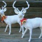 VINTAGE Christmas Deer w/ Bells - (2) Bucks w/ Antlers