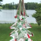 VINTAGE MURANO GLASS CHRISTMAS TREE - RED & GREEN!