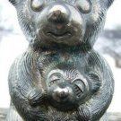 VINTAGE METAL MOTHER BEAR & CUB BANK - SOLID & STURDY!