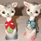 VINTAGE Cat Salt & Pepper Shaker Set (JAPAN) GOTTA SEE!